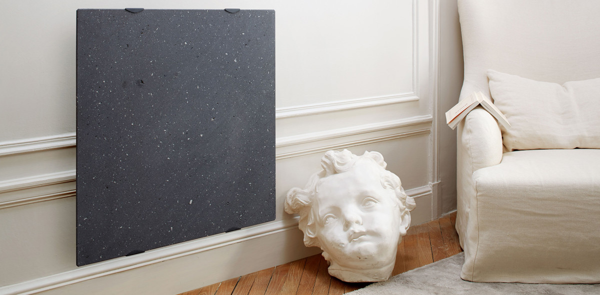 Verwarmingspaneel Lave gemaakt van lavasteen uit Auvergne